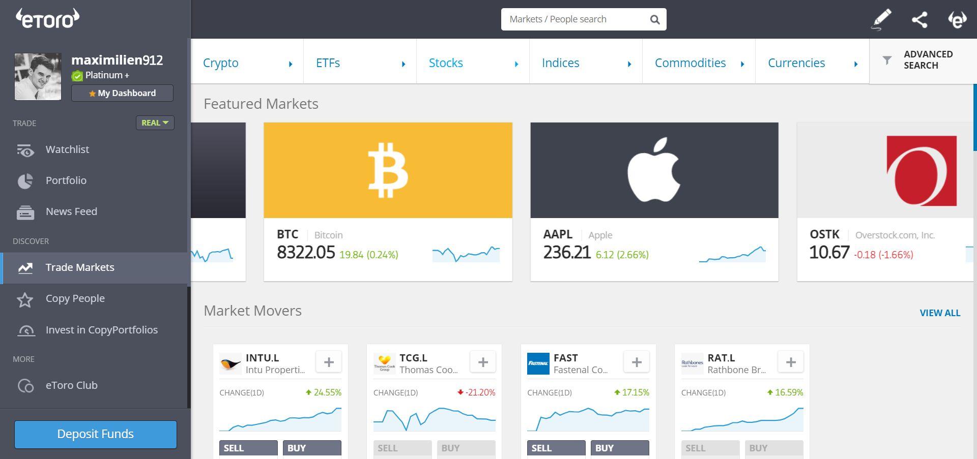 etoro achat bitcoin
